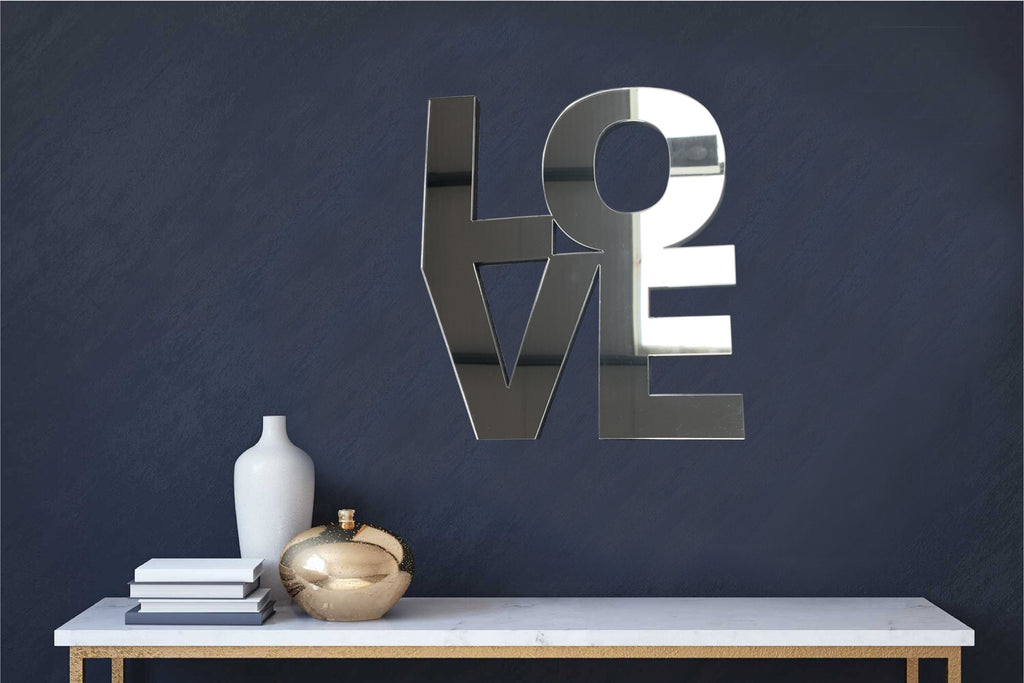 Mirror Acrylic Wall Art - LOVE - Culzean Gifts