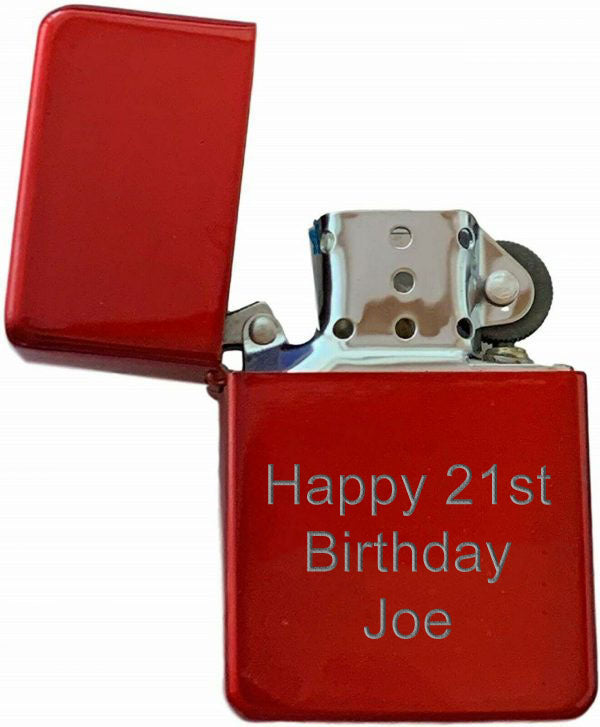 Red Star Flip Top Lighter - Available Engraved  Personalised - Culzean Gifts