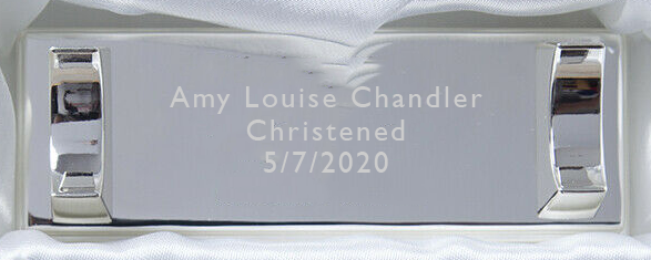 Flat Ended Silver Plated Certificate Holder With Stand - Engraved Personalisation Available - Culzean Gifts