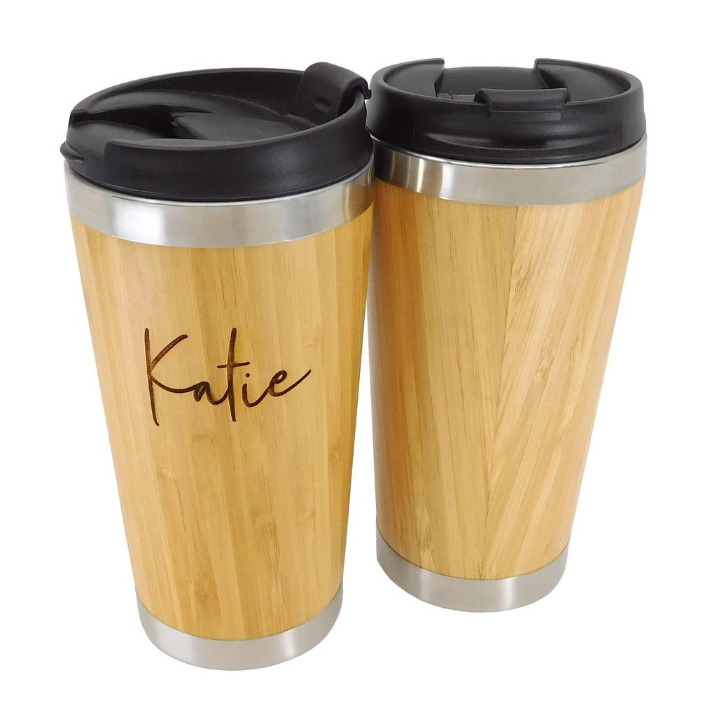 Personalised Deluxe Bamboo Encased Coffee Cup - Culzean Gifts