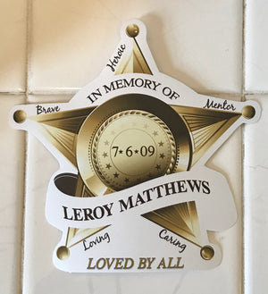Leroy Mathews Memorial Sticker