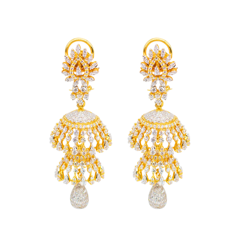 Pear-shaped Diamond Earrings