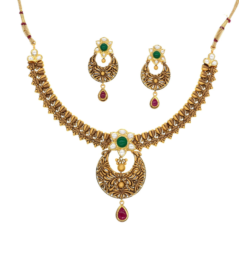 Antique Chand Bali Necklace Set