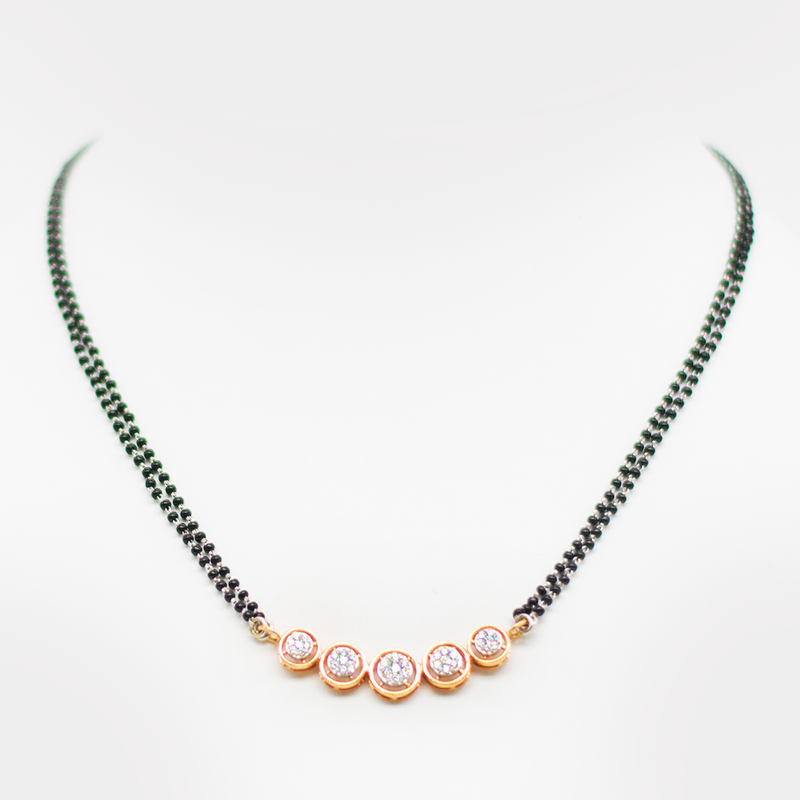 Rose gold Diamond Mangalsutra