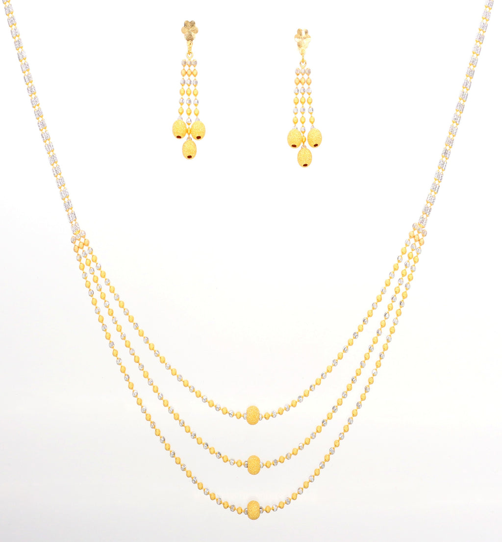 3 Row Necklace Set