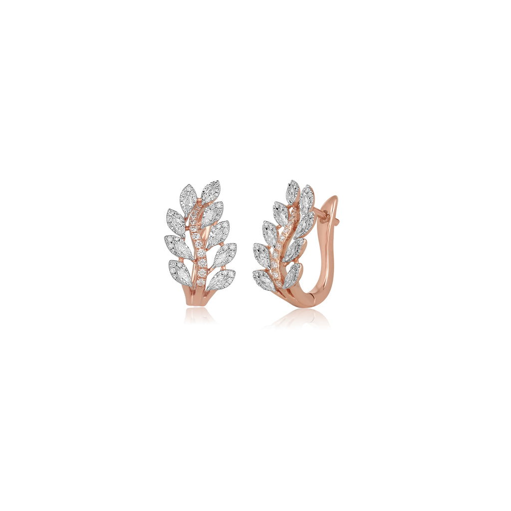 GRACEFUL ROSE EARRINGS