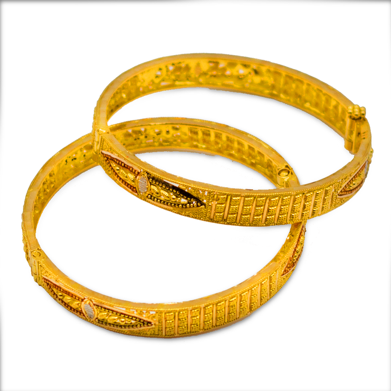Kids bangles with a Rhodium finish
