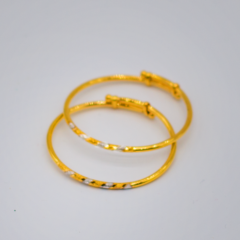 Kids bangles in Two-Tone