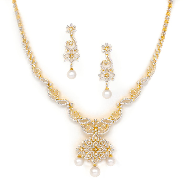 Swirl Motif Necklace set