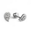Two-tone Diamond Studs