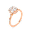Interlaced engagement ring