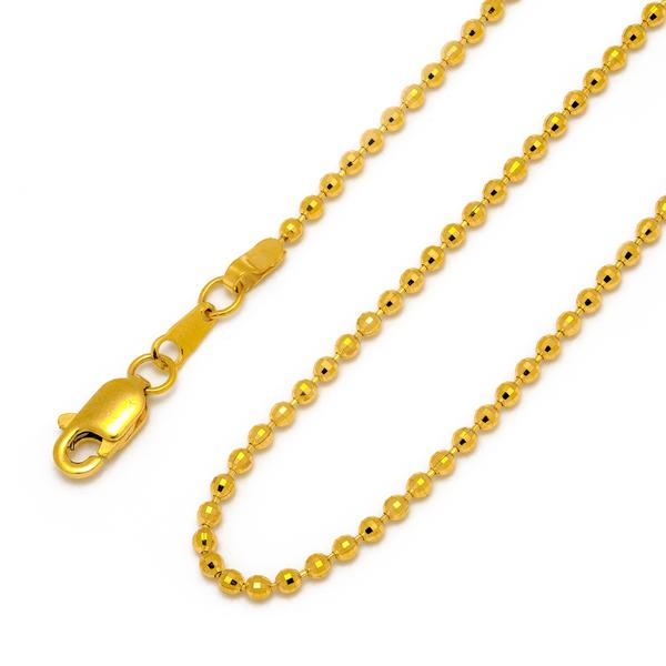 Gold beads chain 18""