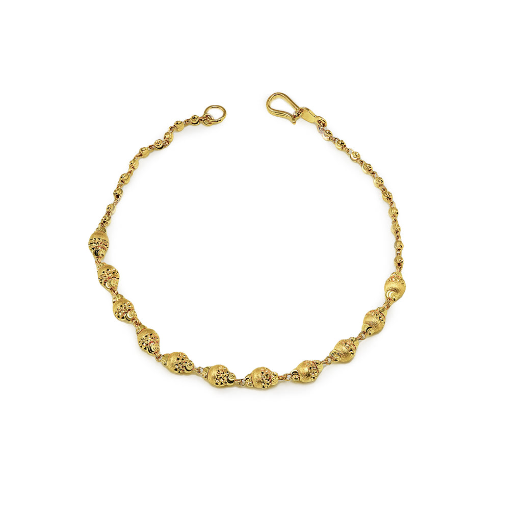 Gold beads ladies bracelet