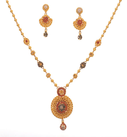 Tri-Color Necklace Set