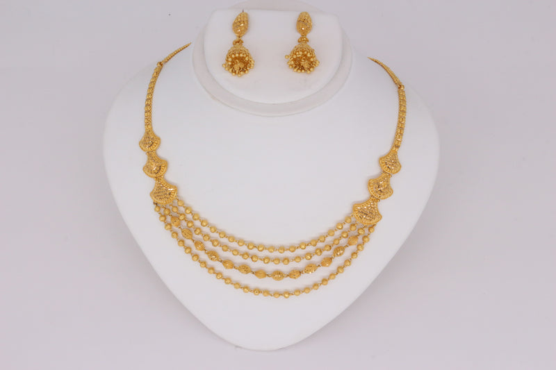 Four-layered Gold Necklace Set
