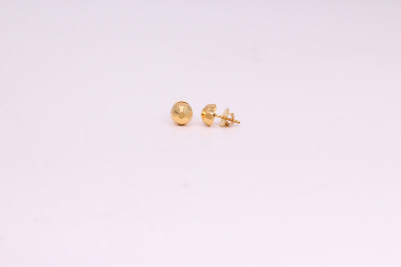 Simple Yellow Gold Studs