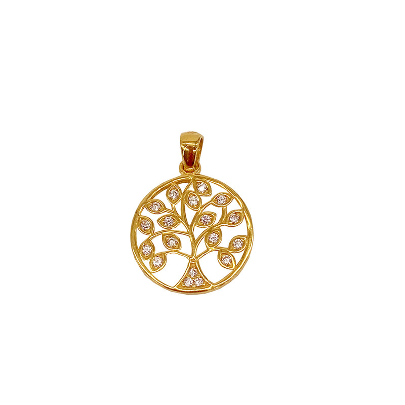 Diamond Tree Pendant