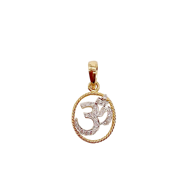 Religious Oval Shape Diamond Pendant