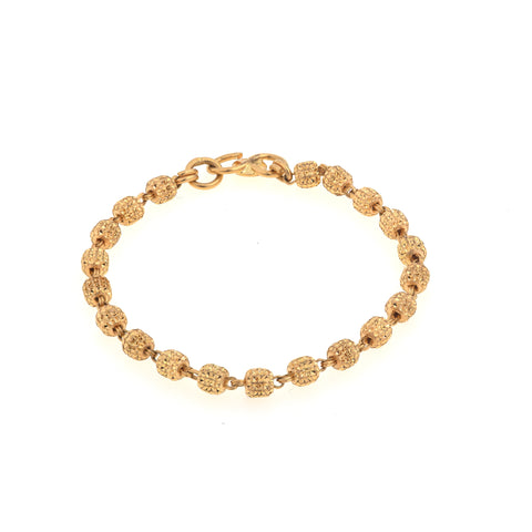 Pearl and Gold Bead Baby Bracelet
