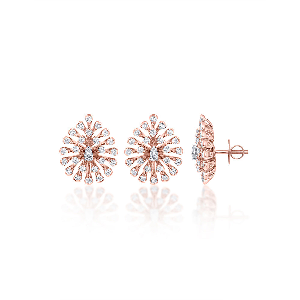 TRADITIONAL ROSE GOLD STUDS