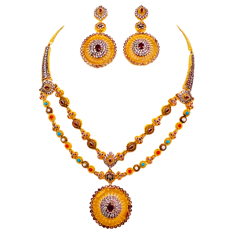 Two-layered Necklace set