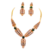 Ruby and Emerald Gold Necklace Set
