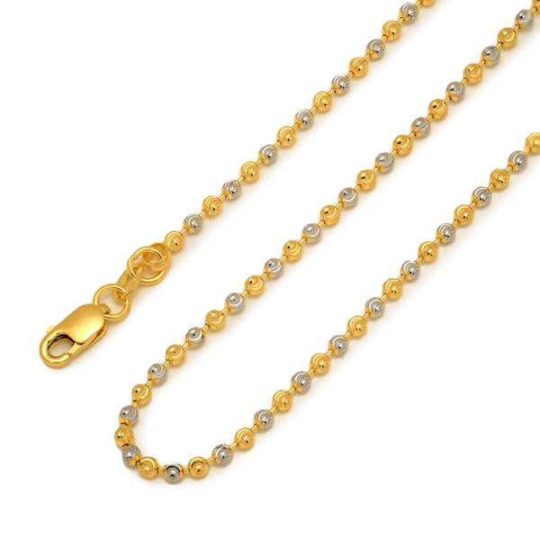 Two-tone beaded chain 18""