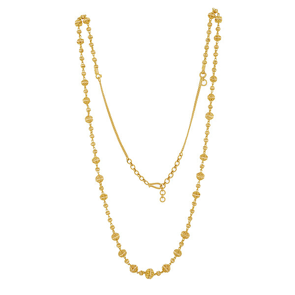 FANCY GOLD BEADED CHAIN NECKLACE