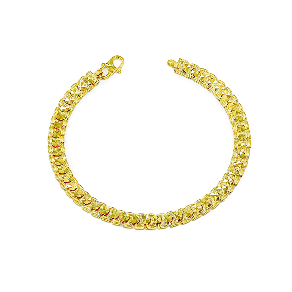 Yellow gold ladies bracelet