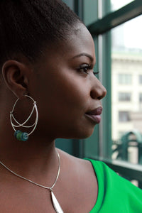 """Koforidua"" Sterling Silver Hoop Earrings"