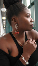 "Load image into Gallery viewer, ""Madina"" Sterling Silver Post/Stud Earrings"