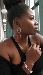 """Madina"" Sterling Silver Post/Stud Earrings"