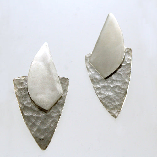 Shields- sterling silver stud earrings