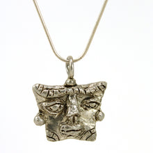 Load image into Gallery viewer, sterling silver african mask pendant necklace