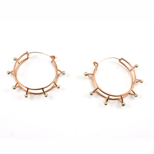 """Ferris Wheels""- Hoop Earrings"