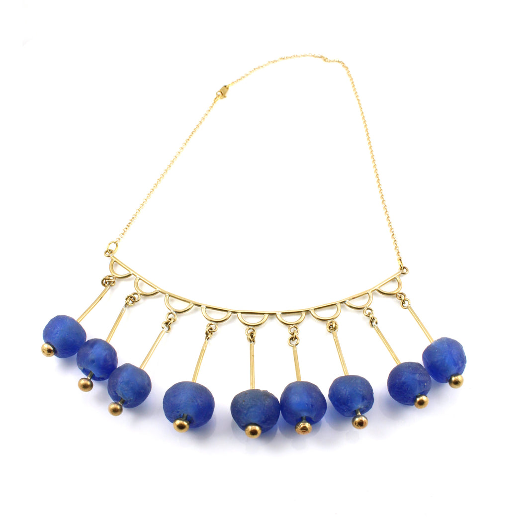Krobo Bead Chandelier necklace