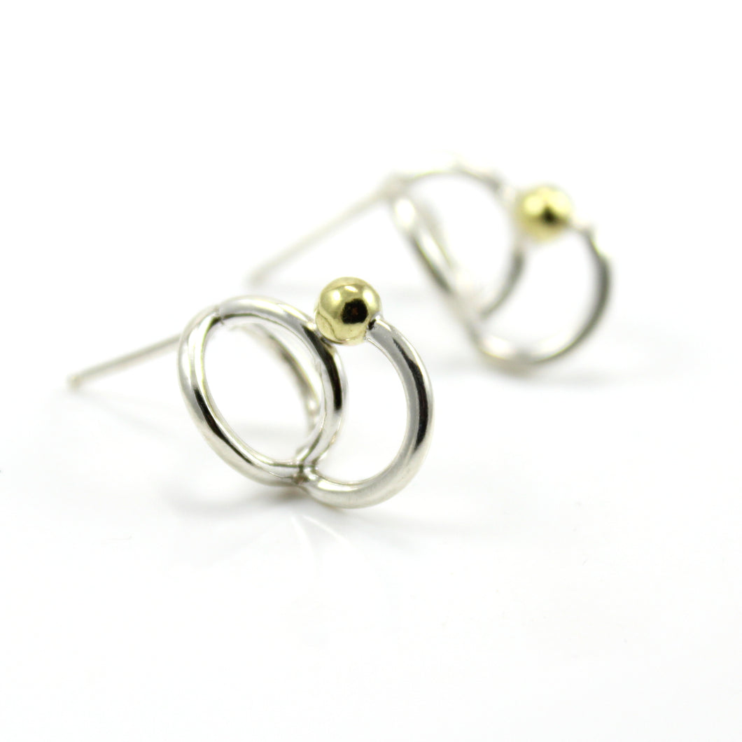 Circle Arc stud earrings
