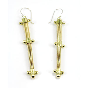 Coiled spike dangle earrings