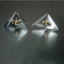 "Load image into Gallery viewer, ""Reflections""-Sterling silver stud earrings"