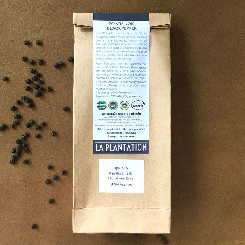 Organic Black Kampot Pepper 100g
