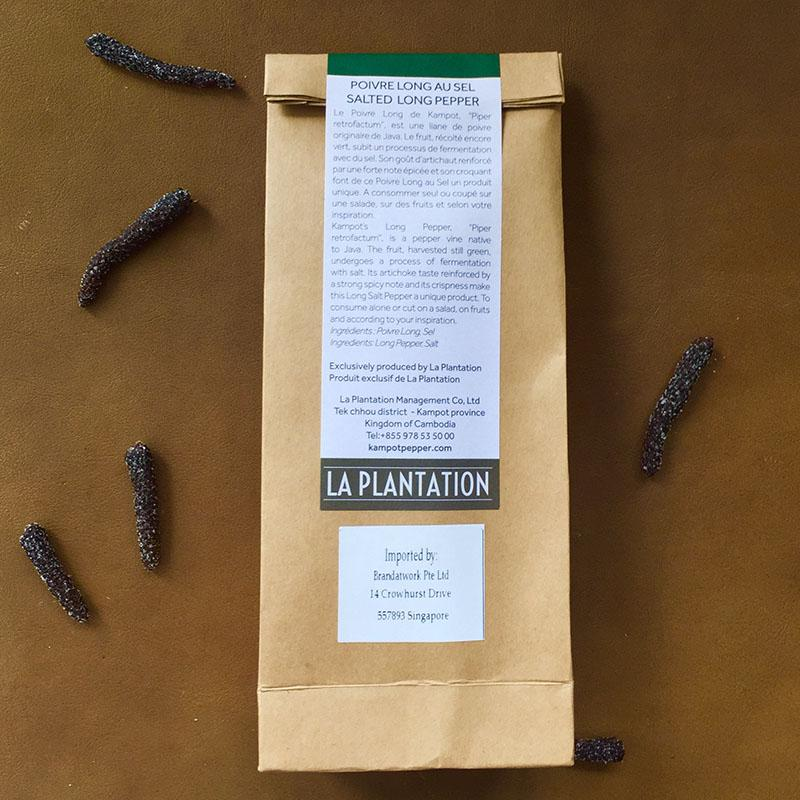 Organic Salted Long Kampot Pepper 100g