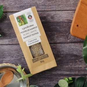 Organic Smoke White Kampot Pepper 50g