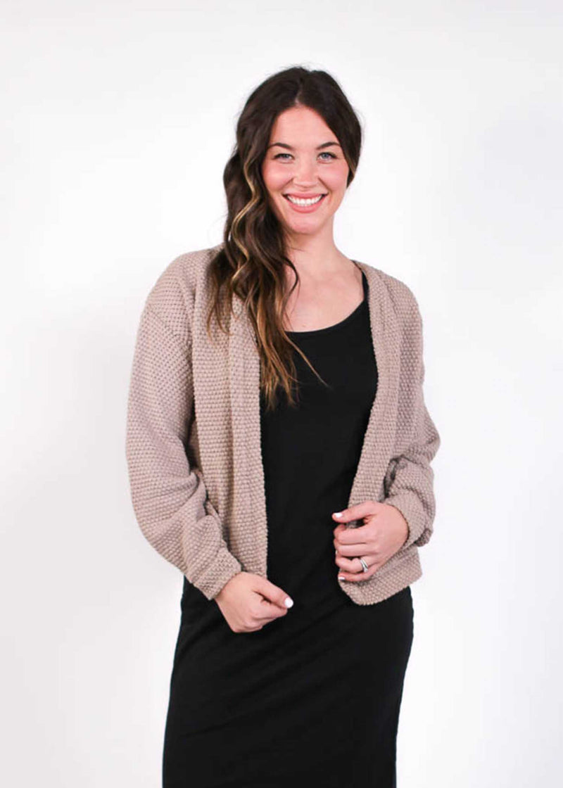 plume and thread-cardigan-amber knit cardigan