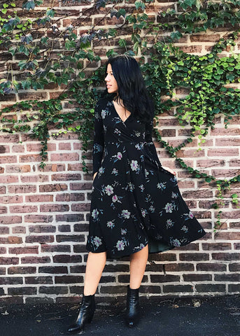 Julia Floral Wrap Dress