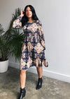 Julia Fennel Print Wrap Dress
