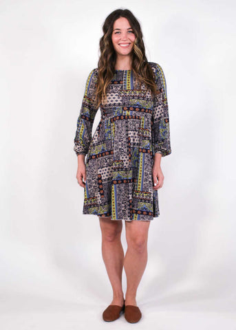 Anabel Tropical Wrap Dress