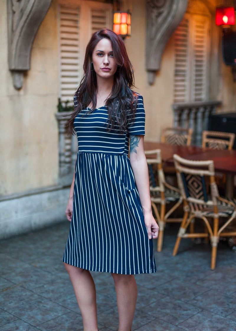 plume and thread-dresses and tunics-natural-isabel navy striped dress-lifestyle