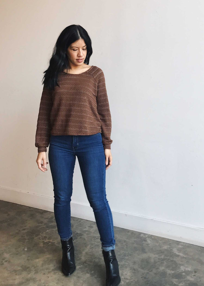 plume and thread-sweater-copper-bobbi sweater