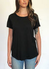 plume and thread-tops-black-billie tee-front