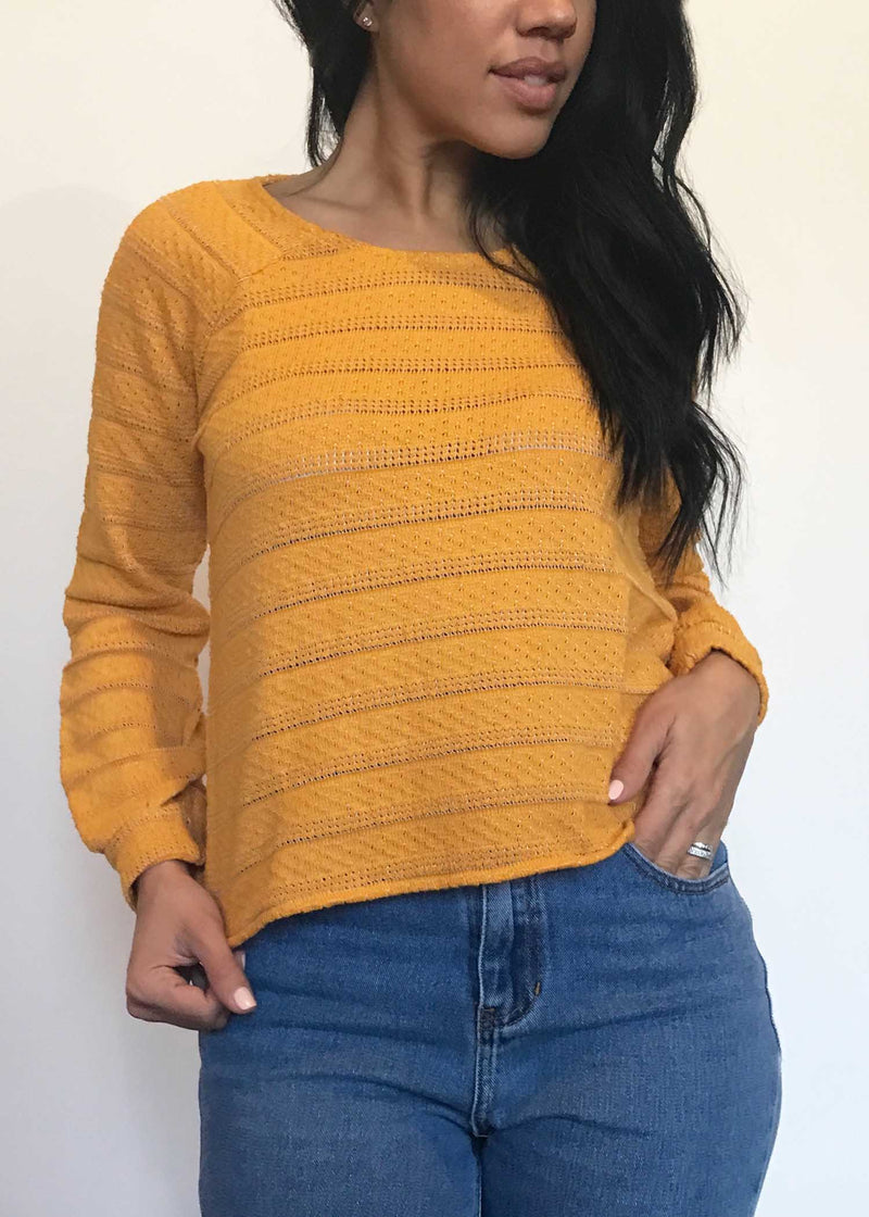 plume and thread-tops-honeygold-bobbi sweater-front